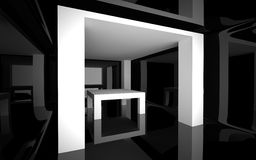 Abstrakcjonistyczny wnętrze Zdjęcie Royalty Free
