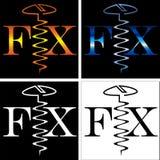 Abstrakcjonistyczny wpisowy dylemat śruby biznesu logo Obrazy Stock