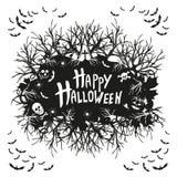 Abstrakcjonistyczny wpisowy Szczęśliwy Halloween ilustracja wektor