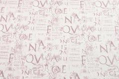 Abstrakcjonistyczny writing Obraz Royalty Free