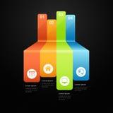 Abstrakcjonistyczny wykresu infografics Obrazy Royalty Free