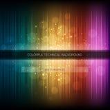 Abstrakcjonistyczny wyrównywacza tło. Kolorowa tęczy fala. Obraz Stock
