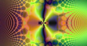 Abstrakcjonistyczny wysoka rozdzielczość fractal wideo z psychodelicznym hipnotycznym falistego wzoru wymienianiem z psychodelicz ilustracja wektor