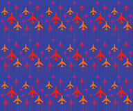 Abstrakcjonistyczny wzór z kolorów samolotami również zwrócić corel ilustracji wektora , wektorowy tło 10 tło projekta eps techni Fotografia Royalty Free