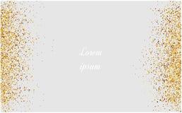 Abstrakcjonistyczny złocisty błyskotliwości tło Błyszczący błyska dla karty ilustracji