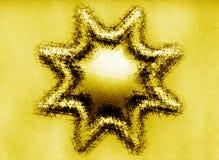 Abstrakcjonistyczny złocisty błyskotliwy gwiazdowy symbol ilustracji