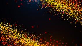 Abstrakcjonistyczny złocisty bokeh z czarnym tłem Obraz Royalty Free