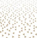 Abstrakcjonistyczny złocisty geometryczny modniś mody projekta druku trójboka wzór royalty ilustracja