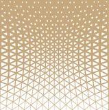 Abstrakcjonistyczny złocisty geometryczny trójboka projekta halftone wzór ilustracja wektor
