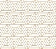 Abstrakcjonistyczny złocisty geometryczny trójboka projekta trójboka wzór ilustracja wektor