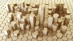 abstrakcjonistyczny złocisty honeycomb ilustracja wektor