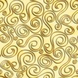 Abstrakcjonistyczny złocisty kolor wygina się bezszwowego wzór Obrazy Royalty Free