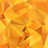Abstrakcjonistyczny złocisty pomarańczowy tło wielobok. Obraz Stock