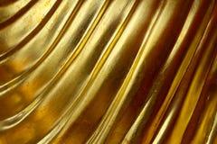 Abstrakcjonistyczny złocisty tło, glansowany metal fotografia stock