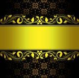 Abstrakcjonistyczny złocisty tło kwiecisty Obraz Stock