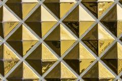 Abstrakcjonistyczny złoto płytki wzór - art deco złota Abstrakcjonistyczny wzór z Obraz Stock