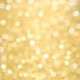Abstrakcjonistyczny złoty Bożenarodzeniowy tło Fotografia Royalty Free