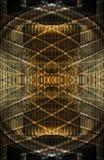 abstrakcjonistyczny złoty wzór obrazy stock