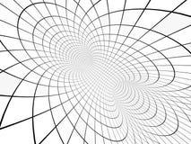 Abstrakcjonistyczny złudzenie czarny white ilustracja wektor