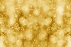 Abstrakcjonistyczny złocisty bokeh skutek Zdjęcie Royalty Free