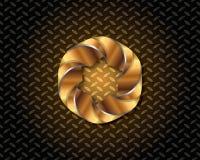 Abstrakcjonistyczny Złocisty loga wektor Fotografia Stock