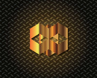 Abstrakcjonistyczny Złocisty loga wektor Zdjęcia Stock