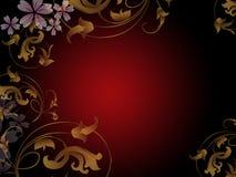 Złoty kwiecisty abstrakt royalty ilustracja