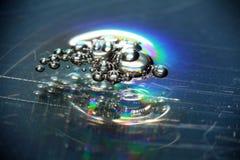 Abstrakcjonistyczny zamazany tło marznąca woda Zdjęcia Royalty Free