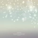 Abstrakcjonistyczny zamazany tło z błyskotanie gwiazdami Zdjęcie Royalty Free