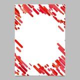Abstrakcjonistyczny zaokrąglony diagonalny lampasa wzoru broszurki szablon - pusty ulotki tła projekt od lampasów w czerwonych br Fotografia Stock