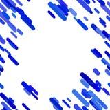 Abstrakcjonistyczny zaokrąglony diagonalny lampasa wzoru tło - wektorowy graficzny projekt od niebieskich linii na białym tle ilustracja wektor