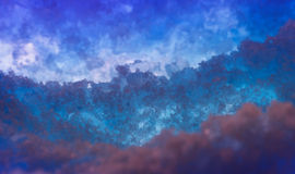 Abstrakcjonistyczny zasolony astronautyczny tło Obraz Stock