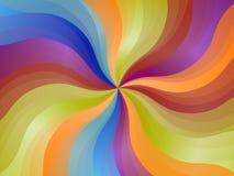 Abstrakcjonistyczny zawijasa colorfull tło Zdjęcie Royalty Free