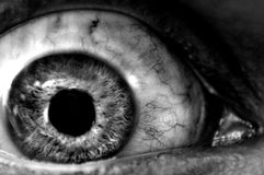 abstrakcjonistyczny zbliżenia gałki ocznej terror Zdjęcia Royalty Free