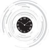 abstrakcjonistyczny zegar ilustracja wektor