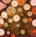 abstrakcjonistyczny zegar Zdjęcie Royalty Free