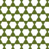abstrakcjonistyczny zieleni wzoru biel Obrazy Royalty Free