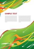abstrakcjonistyczny zielony szablon Obrazy Stock