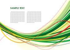 abstrakcjonistyczny zielony szablon Ilustracji