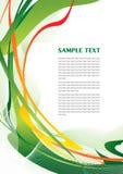 abstrakcjonistyczny zielony szablon Zdjęcie Stock