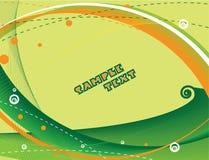 abstrakcjonistyczny zielony szablon Obrazy Royalty Free