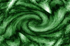 abstrakcjonistyczny zielony vortex Obrazy Royalty Free