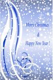 Abstrakcjonistyczny zima bożych narodzeń błękit tło Zdjęcie Royalty Free