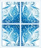 Abstrakcjonistyczny zima bożych narodzeń tło Zdjęcia Royalty Free