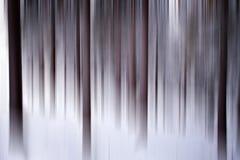 Abstrakcjonistyczny zima las Obraz Royalty Free