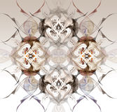 Abstrakcjonistyczny zima wzór w sztuki Nouveau stylu Zdjęcia Stock