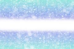 Abstrakcjonistyczny zimy bokeh tło obraz stock