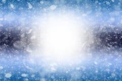 Abstrakcjonistyczny zimy bokeh tło zdjęcia royalty free