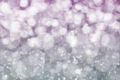 Abstrakcjonistyczny zimy bokeh tło zdjęcia stock
