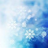 Abstrakcjonistyczny zimy tło Zdjęcia Royalty Free